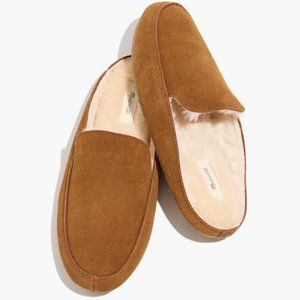 Madewell The Loafer Tan Suede Scuff Slippers 8 M